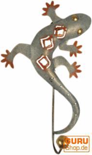 Kleine Blech Kleiderhaken `Gecko`