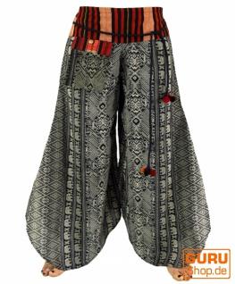 Palazzohose Hosenrock Schlaghose Sommerhose Hippie Goa Hose