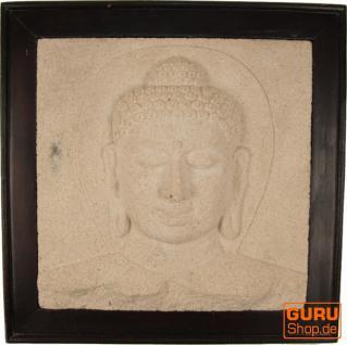 Steinbild Buddha
