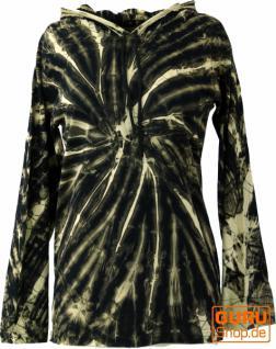 Batik Shirt, Goa Tie Dye Langarmshirt