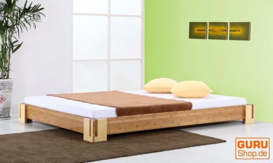 Bambusbett `Sumba` braun natur - 20cm hoch - in vielen Größen