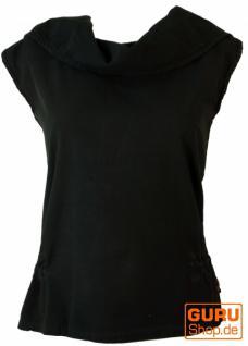 Ethno Shirt Hoodie Goa chic - schwarz