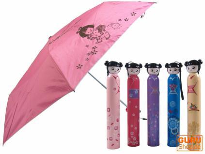 """Regenschirm aus der Flasche """" Dolly"""" in 5 Varianten"""