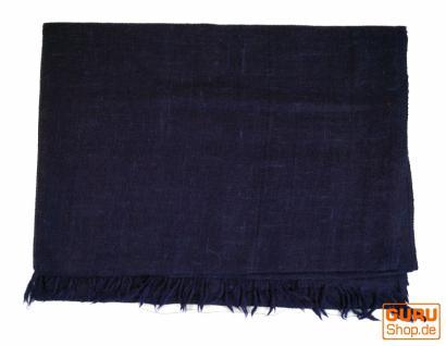 Indischer Schal, feiner Wollschal blau - Vorschau 2