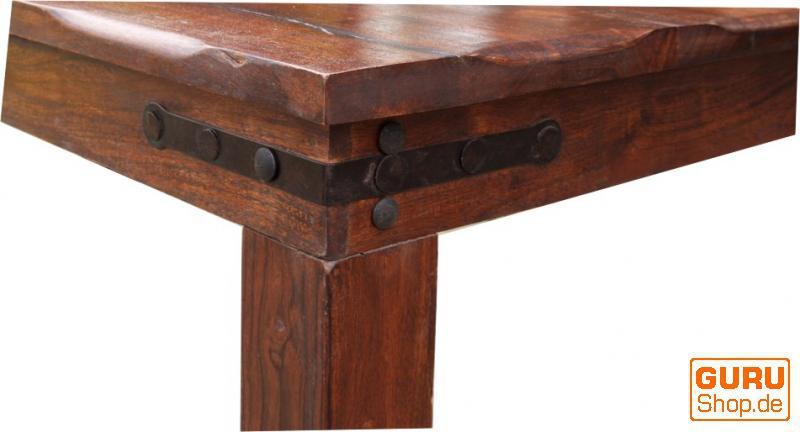 Esstisch mit runden kanten beschlag r509 dunkel kaufen for Esstisch holz dunkel
