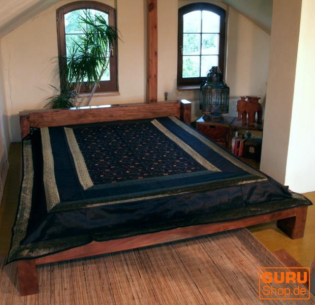 brokatdecke tagesdecke schwarz kaufen bei guru shop gmbh. Black Bedroom Furniture Sets. Home Design Ideas