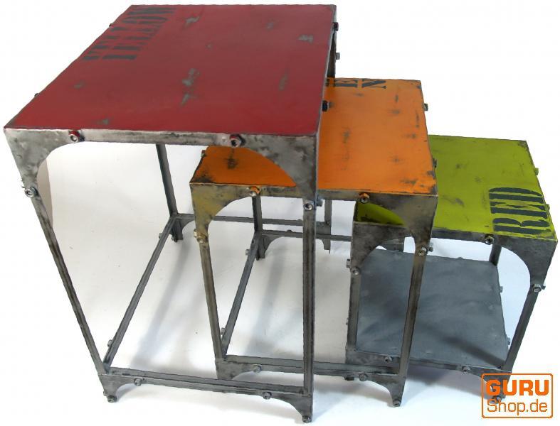 Beistelltisch set metall kaufen bei guru shop gmbh for Beistelltisch set metall