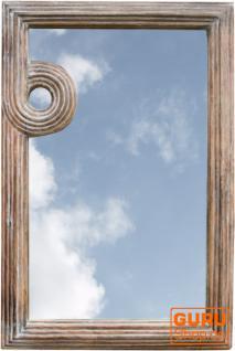 Spiralspiegel Antikweiß L