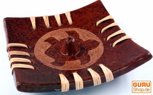 Keramik Räucherstäbchenhalter - Schildkröte
