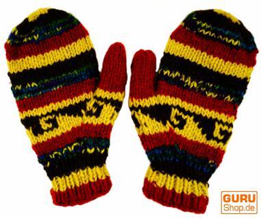 Handschuhe Fauster braun bunt