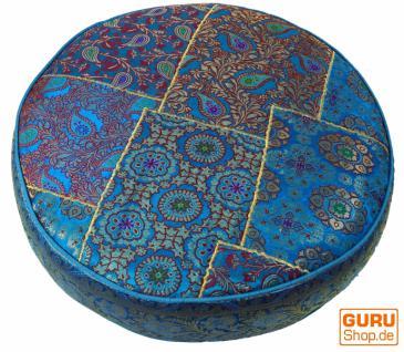 marokkanische sitzkissen aus leder rund kaufen bei l. Black Bedroom Furniture Sets. Home Design Ideas