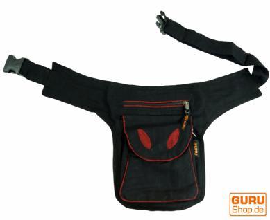 Stoff Sidebag & Gürteltasche, Goa Gürteltasche, schwarz