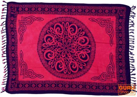 Sarong, Wandbehang, Wickelrock, Sarongkleid Celtic rot - Vorschau