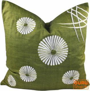 Retro Kissenhülle - 4 grün