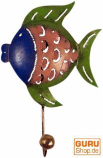 Kleine Blech Kleiderhaken `Fisch`
