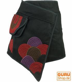 Goa Wickelrock Cacheur aus Wollfilz schwarz