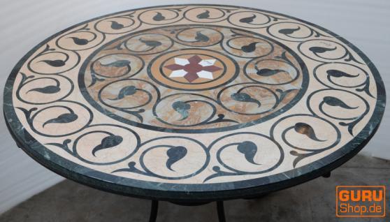 runde marmor tischplatte mit eisenst nder kaufen bei guru shop gmbh. Black Bedroom Furniture Sets. Home Design Ideas