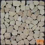 Mosaikfliesen aus sandfarbenem Marmor (S-04)