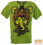 Baba T-Shirt Ganesha mit drittem Auge grün