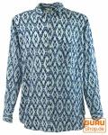 Goa Hippie Hemd, Herrenhemd - blau