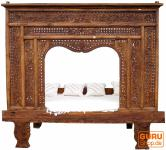 Historisches Himmelbett, Tagesbett aus Teakholz Nr. 12