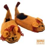 Kinder Filzhausschuhe `Löwe`