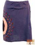 Minirock Boho chic, Ethnorock - violett