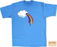 Fun T-Shirt `Wolke`- blau