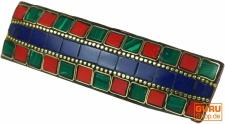 Haarspange Mosaik - blau/bunt