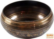 Klangschale mit Gravur aus Nepal 17 cm