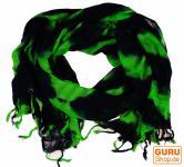Batiktuch schwarz /grün