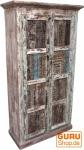 Antikschrank, Kleiderschrank mit alten Blockdruckstempeln (JH9-7)
