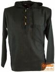 Nepal Hemd Goa Hippie Sweatshirt - schwarz