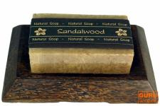 Seifenset Sandalwood, Seife & Kokosholz Seifenschale