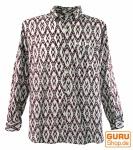 Goa Hippie Hemd, Herrenhemd - rot