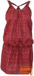 Minikleid in sommerlichem Druck - pink