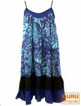 Minikleid Hippie chic - blau