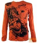 Langarmshirt Ganesh - orange