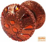 Glitter Möbelknopf orange