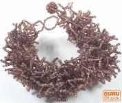 Perlenarmband lila