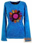 Goa Langarmshirt Stonewash - blau