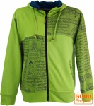 Goa Jacke Ethno Hoody - apfelgrün