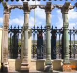 Alte Säule, Bauelement antik aus Indien