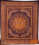 Batikbild Sonne Tagesdecke 7