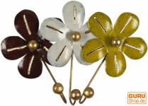 Kleine Blech Kleiderhaken `Blüte`