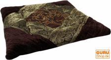 Orientalisches Brokat Steppkissen, Stuhlkissen 40*40 cm braun