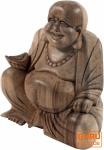 Lucky Holzbuddha hell, 16 cm
