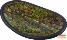 kleine grünbunte ovale Mosaikschale