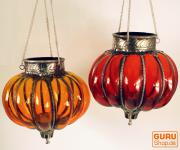 orientalisches Glasteelicht, Hänge Teelicht, Glaslaterne