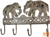 Metall Wandhaken Elefant in 4 Farben